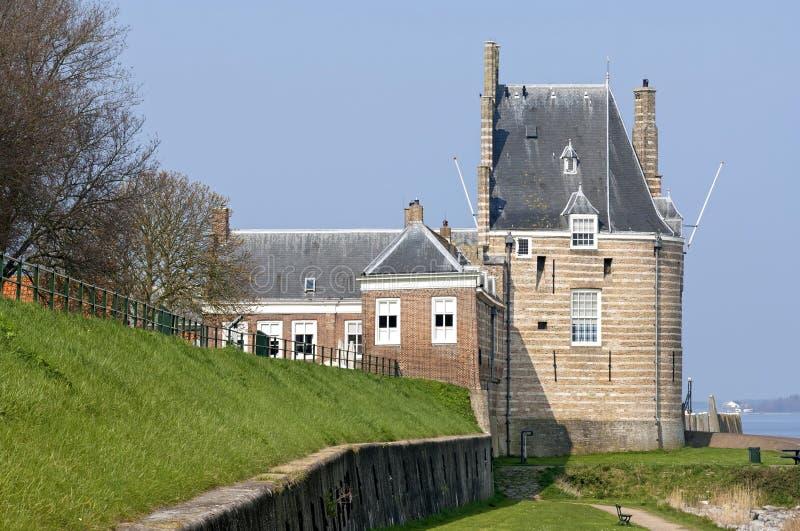 Torre de Campveerse en la ciudad fortificada Veere foto de archivo libre de regalías