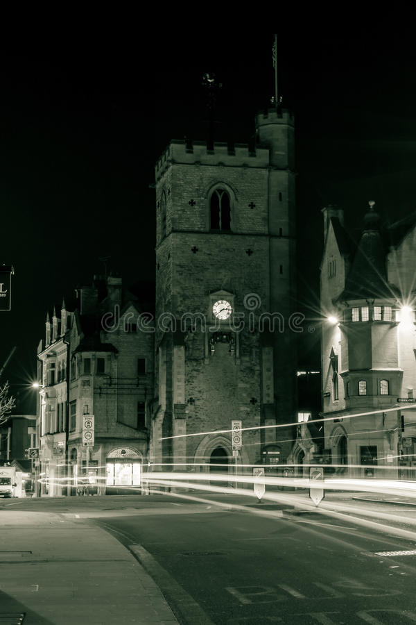 Torre de Carfax na noite foto de stock royalty free
