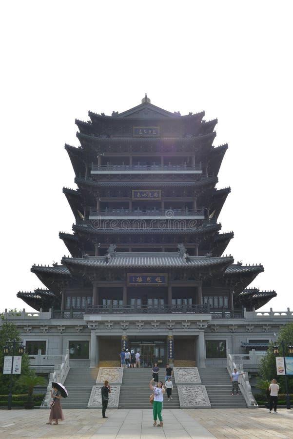 Torre de Chaoran em Daming Lake em Jinan imagens de stock