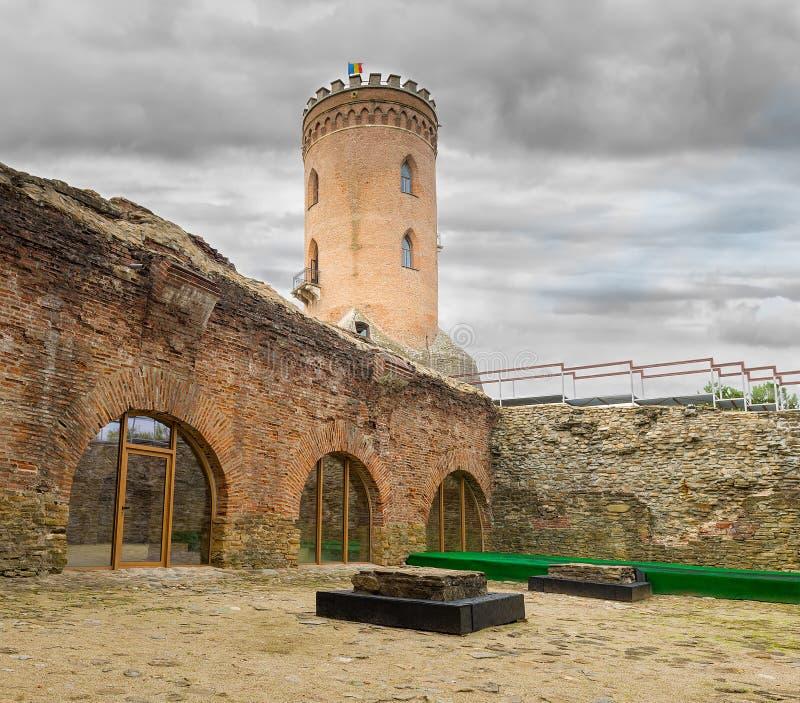 A torre de Chindia (Turnul Chindiei no romanian) em Targoviste imagens de stock royalty free