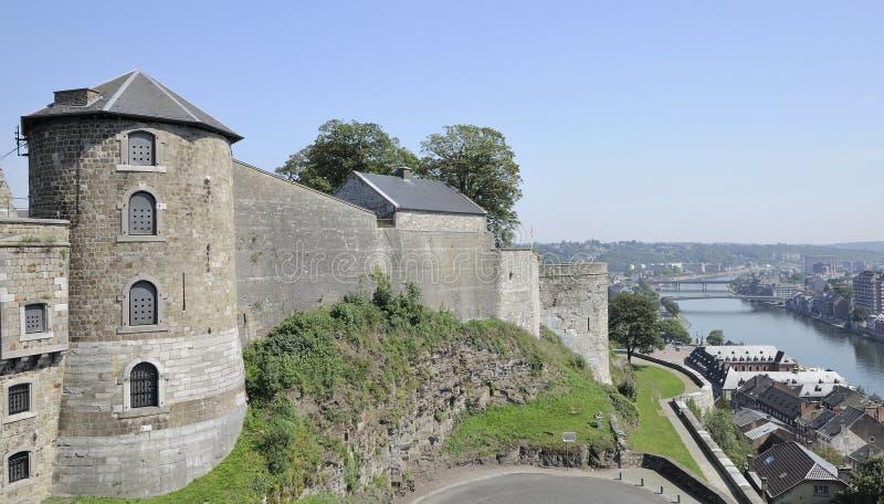 Torre de Cittadelle e ramparts, namur imagem de stock royalty free