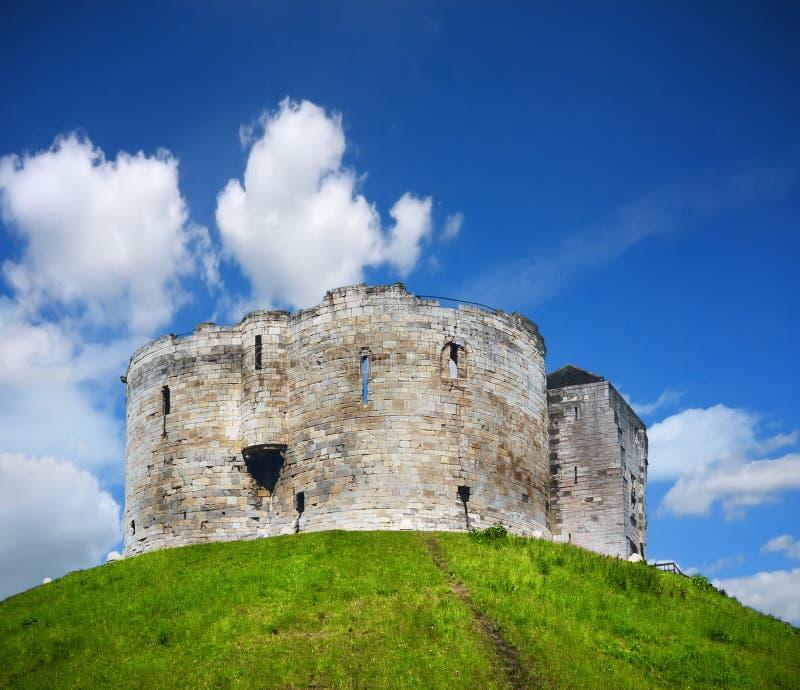 A torre de Clifford em York foto de stock