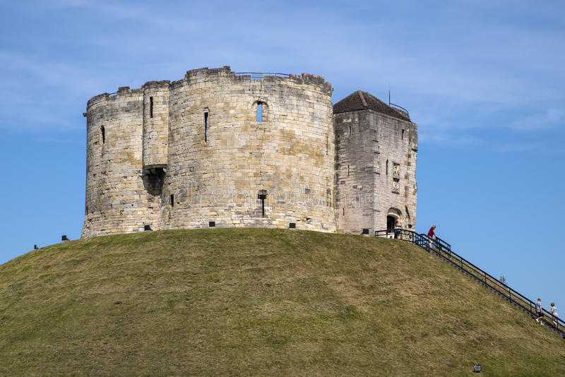 Torre de Cliffords en York imagen de archivo libre de regalías