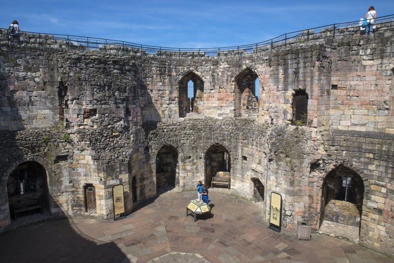 Torre de Cliffords en York fotos de archivo