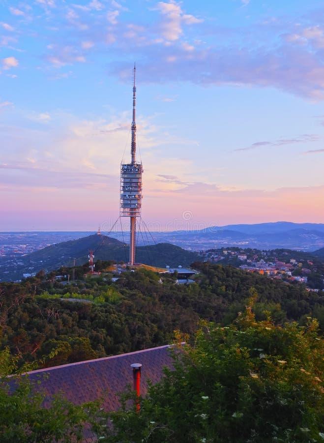 Torre de Collserola en Barcelona foto de archivo