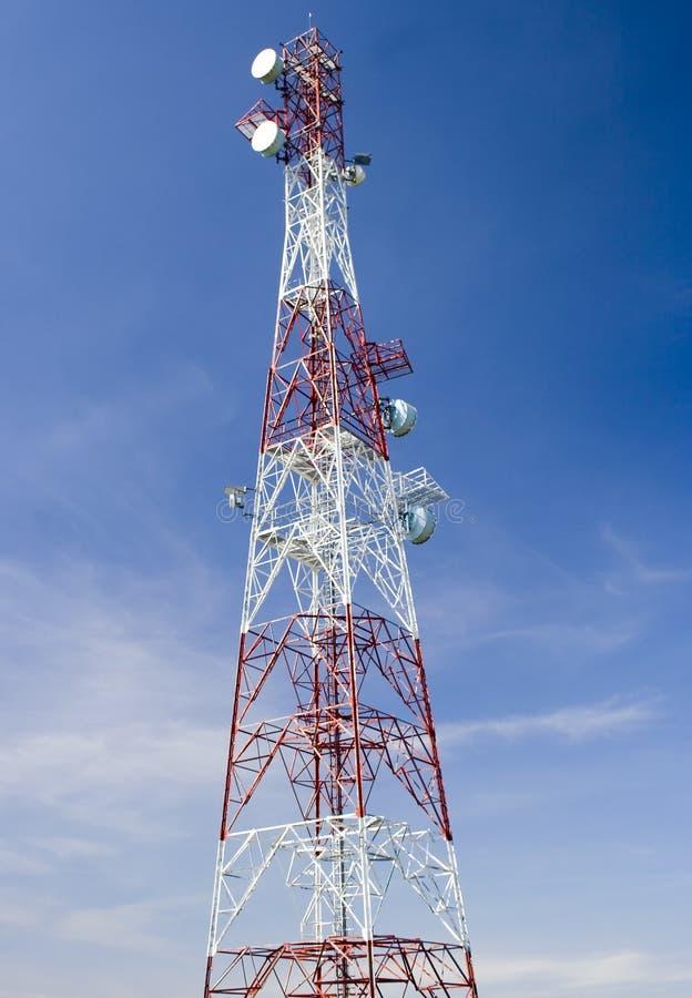 Torre De Comunicação Fotografia de Stock Royalty Free