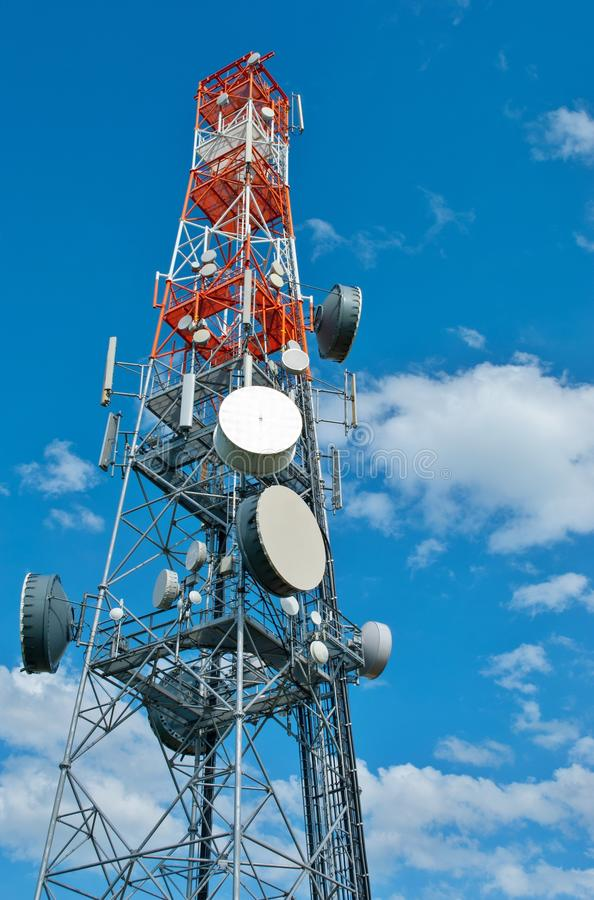 Torre de comunicação foto de stock royalty free