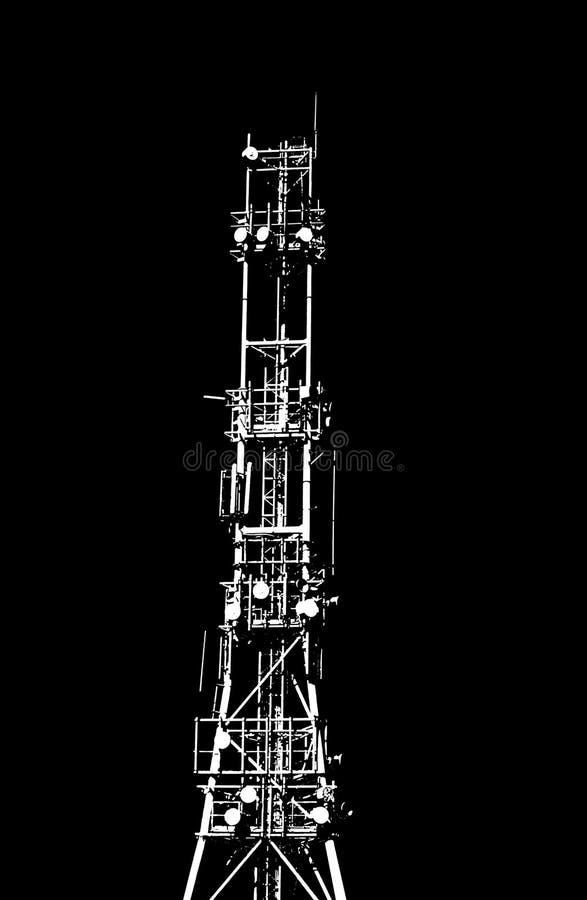 Torre de comunicação ilustração do vetor