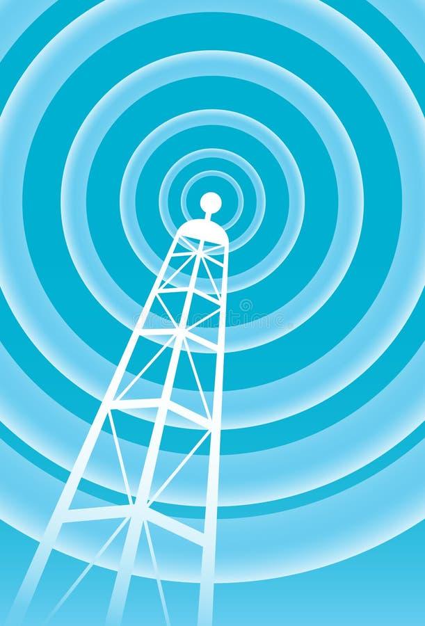 Torre de comunicaciones stock de ilustración