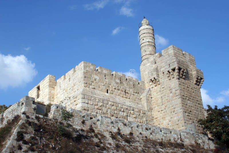A torre de David fotografia de stock royalty free