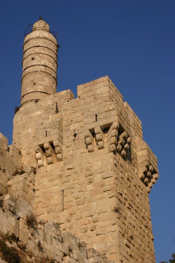 A torre de David fotografia de stock