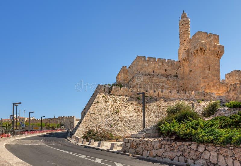 Torre de David em Jerusalem, Israel fotografia de stock