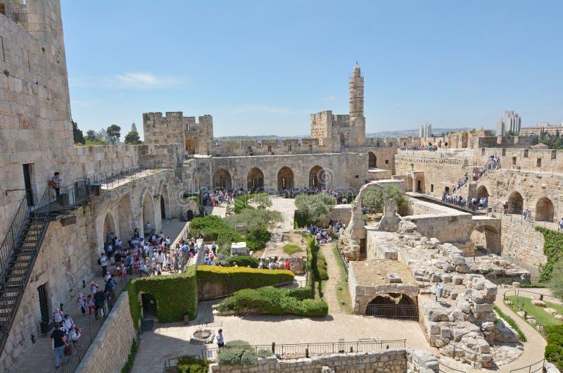 Torre de David Jerusalem Citadel - Israel imagens de stock