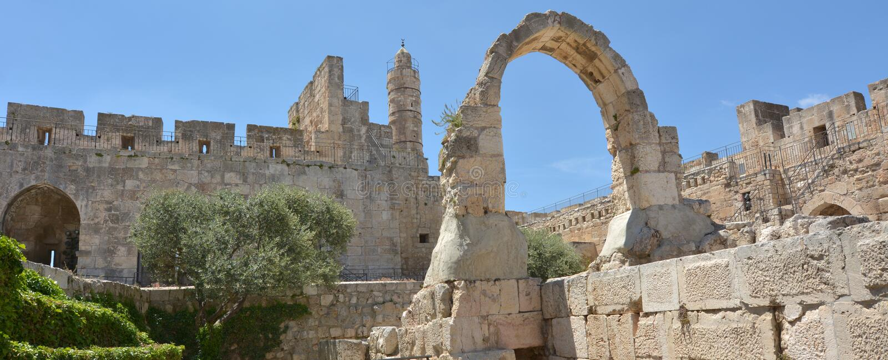 Torre de David Jerusalem Citadel - Israel imagem de stock