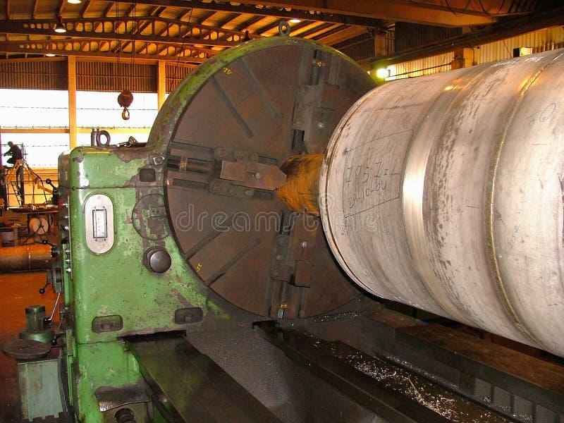 Torre de fabricación del viento del torno industrial imagen de archivo