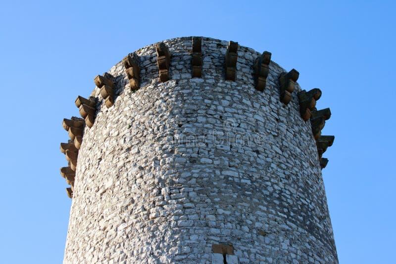 Torre de fogo antiga em Sisteron, França imagem de stock royalty free