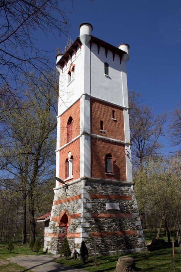Torre de fogo em Targu-Jiu foto de stock