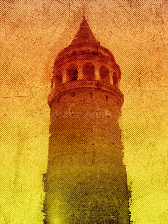 Torre de Galata ilustración del vector