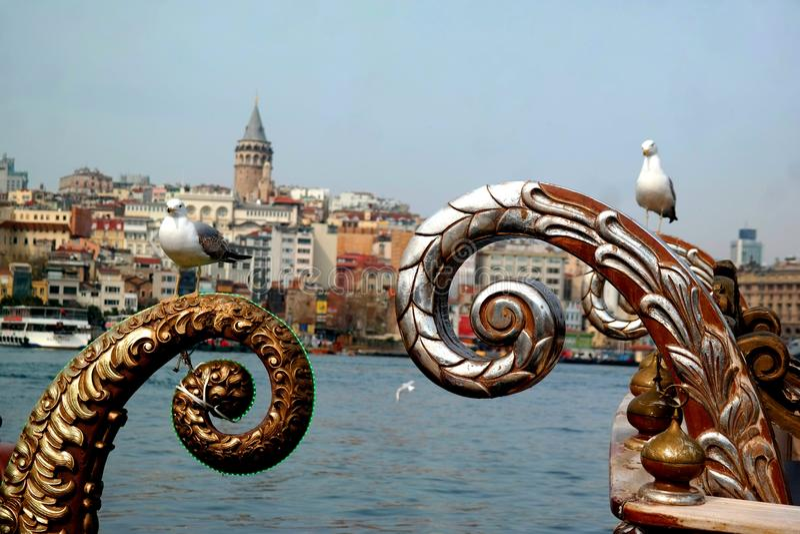 Torre de Galata de Istambul Turquia imagens de stock royalty free