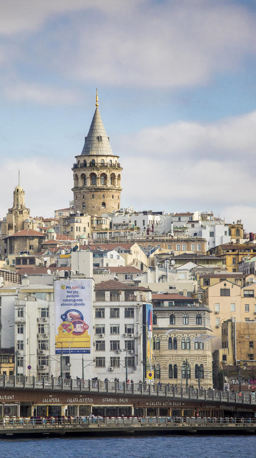 Torre de Galata em Istambul imagens de stock royalty free