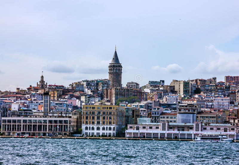 Torre de Galata em Istambul, Turquia fotografia de stock royalty free