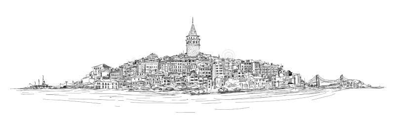 Torre de Galata - Estambul ilustración del vector