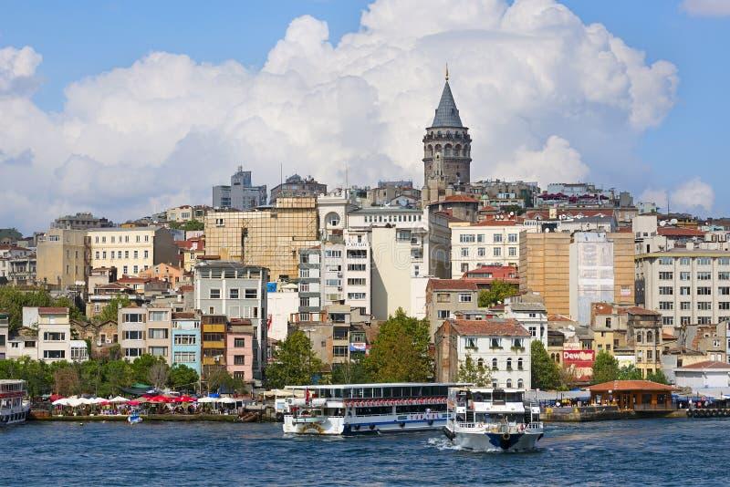 A torre de Galata, Istambul fotografia de stock royalty free