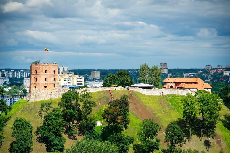 Torre de Gediminas en Vilna, Lituania imagenes de archivo