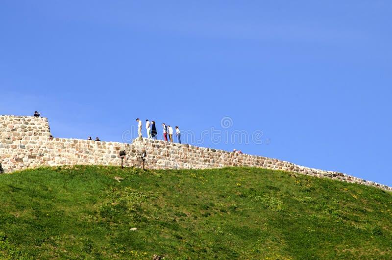 Torre de Gediminas Gedimino em Vilnius, Lituânia Símbolo histórico da cidade de Vilnius e de Lituânia próprio imagem de stock royalty free