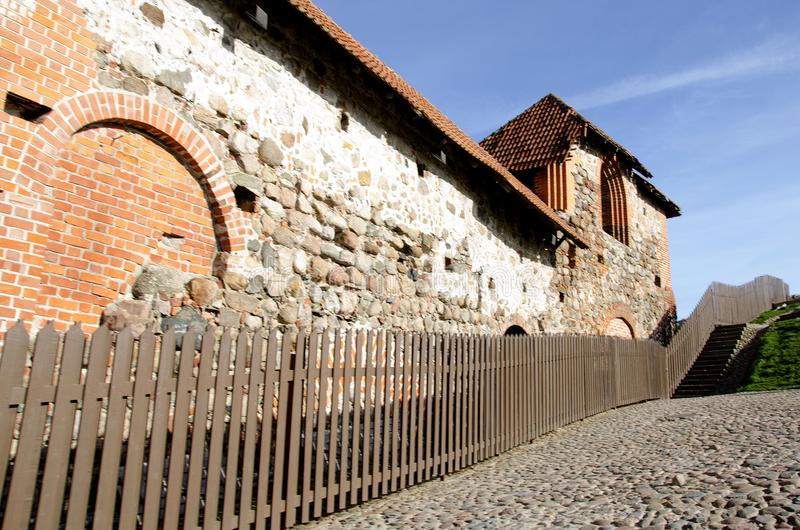 Torre de Gediminas Gedimino em Vilnius, Lituânia Símbolo histórico da cidade de Vilnius e de Lituânia próprio imagens de stock
