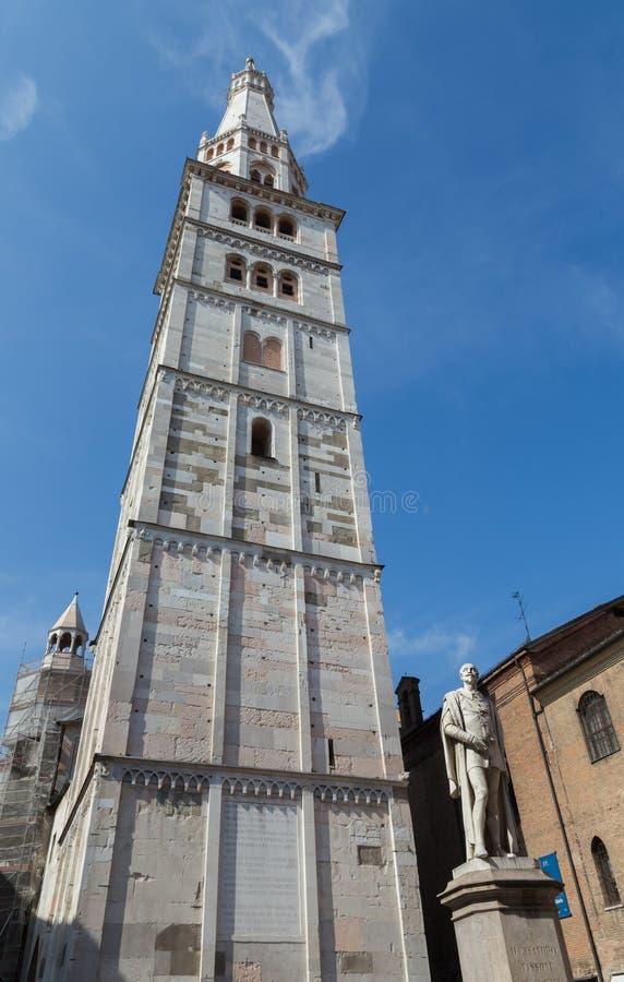 Torre de Ghirlandina, modena imagens de stock