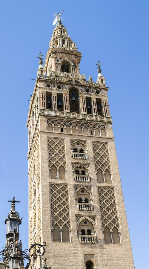 Torre de Giralda, catedral de Sevilla imagen de archivo libre de regalías