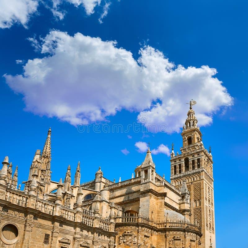Torre de Giralda de la catedral de Sevilla de Sevilla fotos de archivo libres de regalías