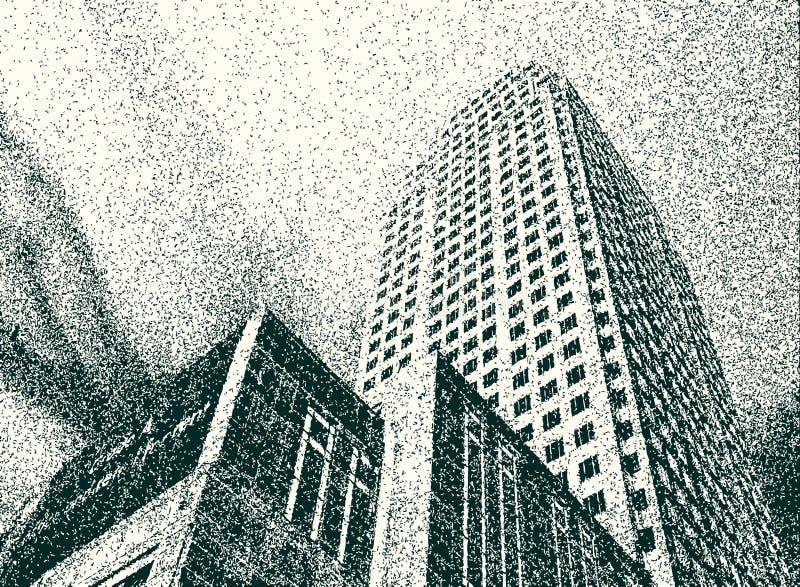 Torre de Grunge ilustração stock