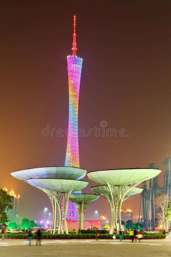 Torre de Guangzhou fotos de stock