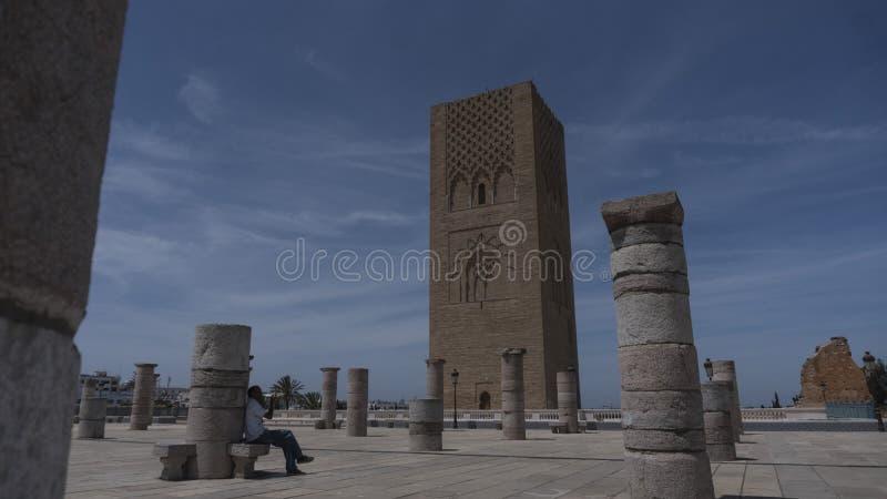 Torre de Hassan II fotos de archivo libres de regalías