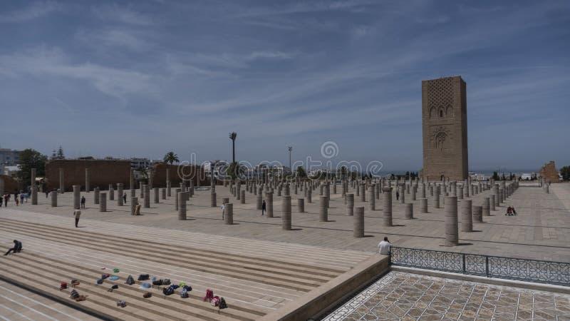 Torre de Hassan II en Rabat, Marruecos, imágenes de archivo libres de regalías