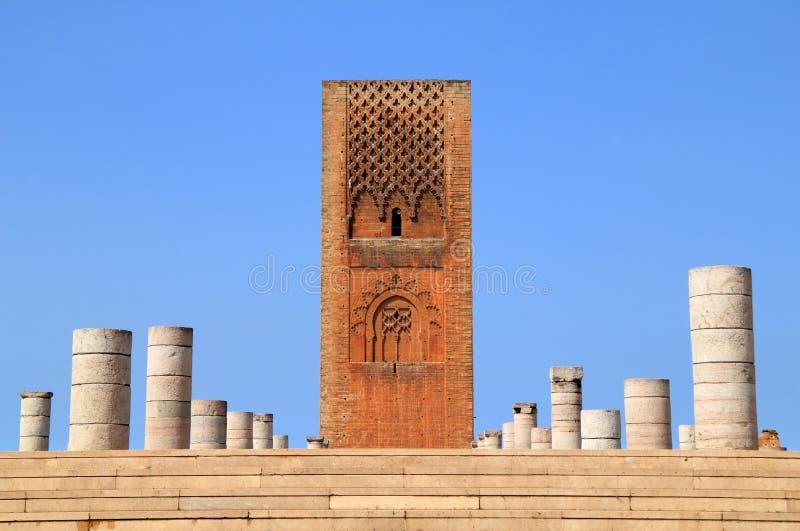Torre Rabat de Hassan, Marrocos imagens de stock