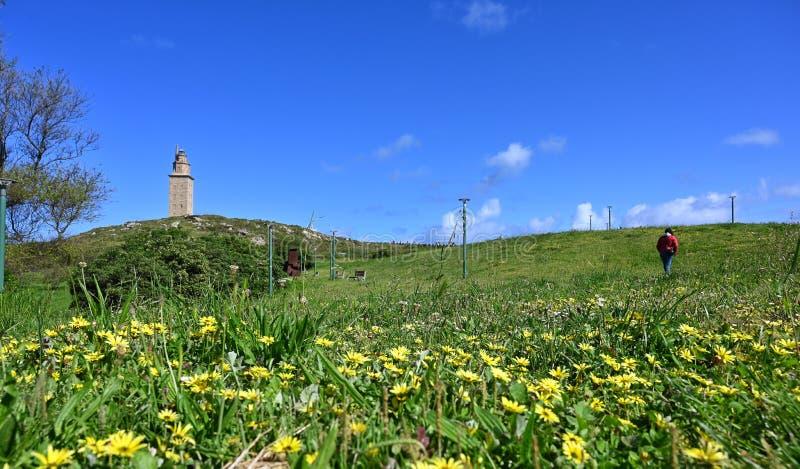 Torre de Hercules fotografia de stock