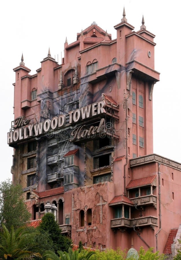 Torre de Hollywood del terror foto de archivo