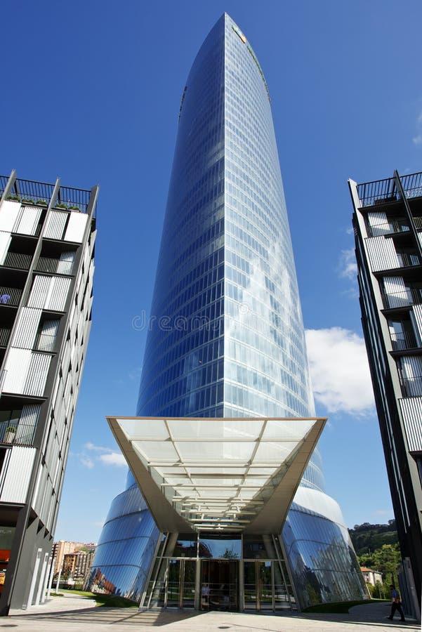 Torre de Iberdrola imagem de stock royalty free