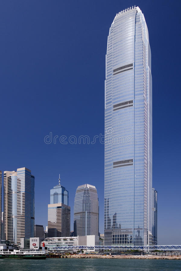 Torre de IFC II - centro financeiro internacional - Hong Kong imagens de stock royalty free