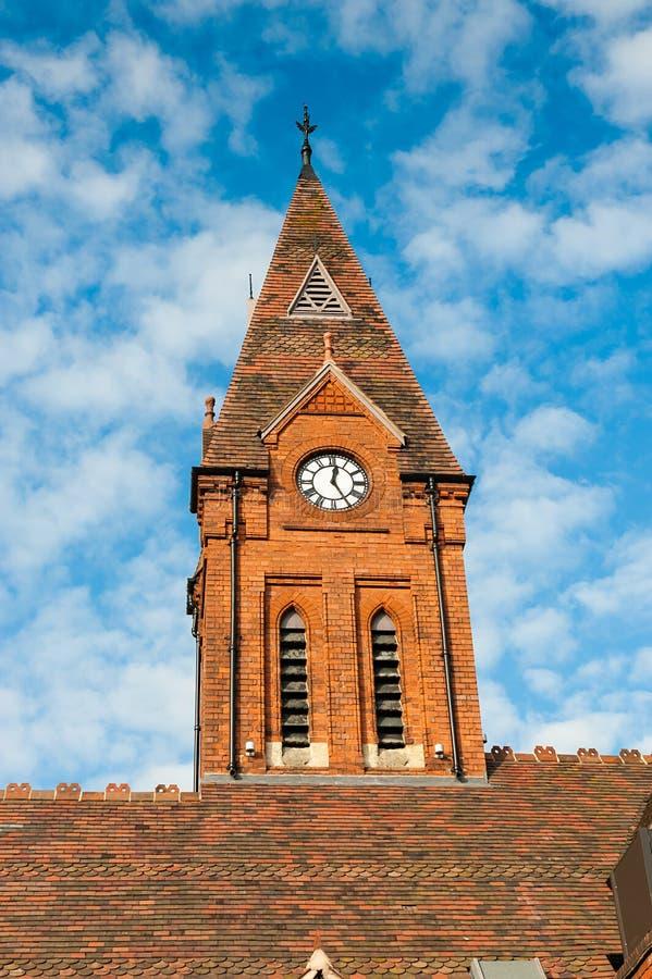 Torre de iglesia fotografía de archivo