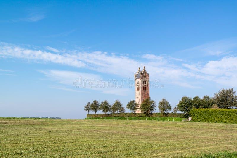 Torre de iglesia de Firdgum, Frisia, Países Bajos fotos de archivo libres de regalías