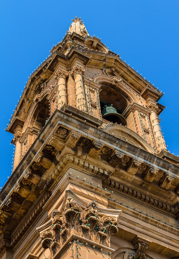 Torre de iglesia del St Publius foto de archivo libre de regalías