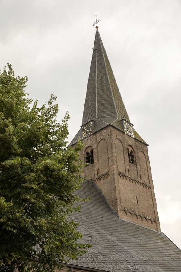 Torre de iglesia de Epe, los Países Bajos imagenes de archivo