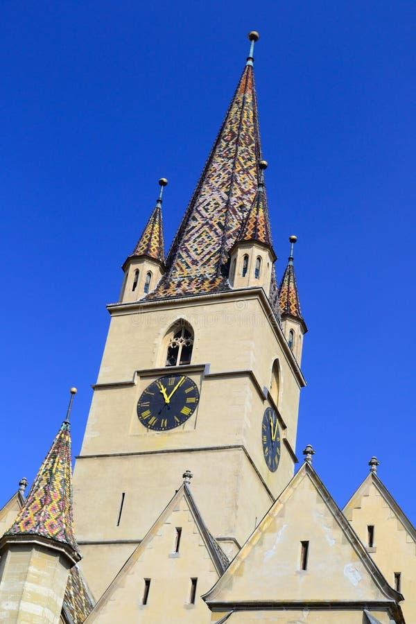 Torre de iglesia medieval fotografía de archivo libre de regalías