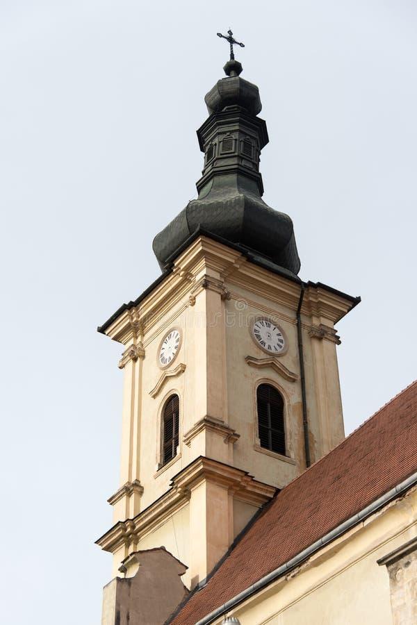 Torre de iglesia vieja foto de archivo libre de regalías