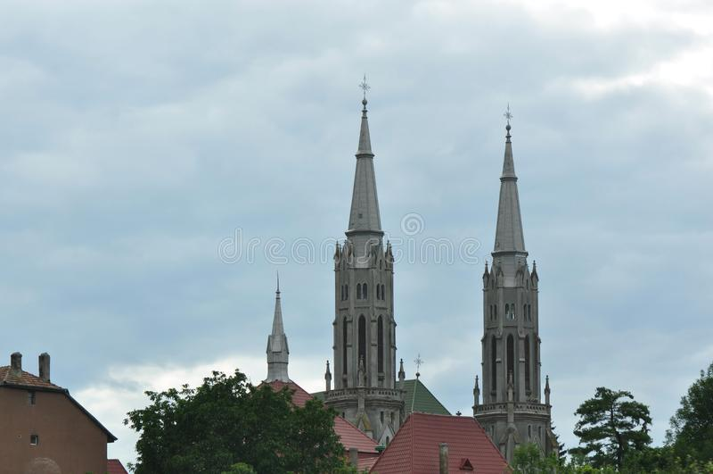 Torre de igreja foto de stock