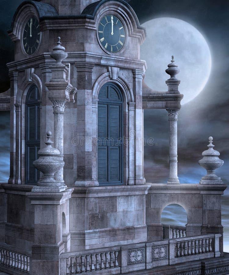 Torre de igreja ilustração stock
